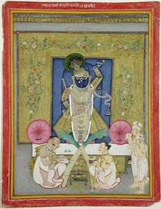 The Adoration of Krishna as Shrinath ji | by thesandiegomuseumofartcollection