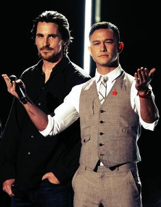 Christian Bale and Joseph Gordon Levitt too much handsome in one place!