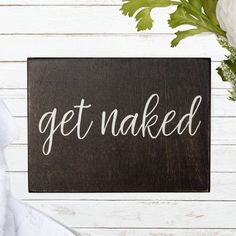 BobSign Nice Butt Rustic Wood Sign Distressed White Farmhouse Decor Bathroom Bedroom Humor Funny