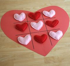 DIY Heart Tic Tac Toe Party Game for Valentine's Day