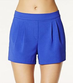 We're obsessed with these monaco bay crepe shorts!