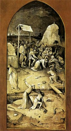 Triptych Temptations of St. Anthony Hieronymus Bosch Size: 131.5x53 centimeters Oil, panel