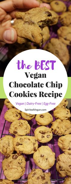 The BEST chocolate chip cookies ever! And you can eat the raw dough because it's vegan! Ready in 20 minutes.