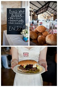 DIY Handmade Wedding at Netherwood by Jacki Bruniquel Bar A Burger, Burger Bar Party, Alaska Wedding, Our Wedding, Wedding Bells, Wedding Reception, Wedding Stuff, Burgers Lake, Going Away Parties