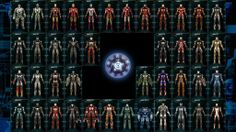 Awesome Made a wall paper out of the 42 current Iron Man suits