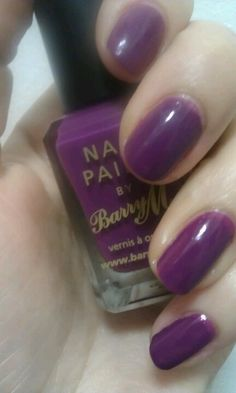 Barry M nail paint in Bright Purple #nails #barrym