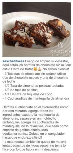 Barra de chocolate sin azucar