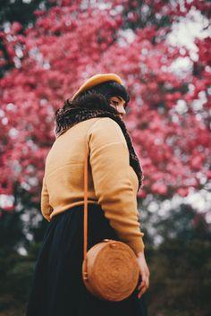♥ Brave Soul mustard yellow jumper ♥ ASOS beret ♥ Bespoke corduroy skirt ♥