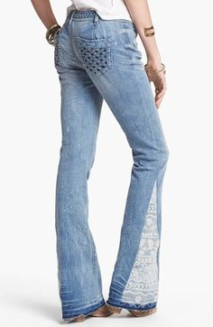 NEED NEED NEED these !!!! Free People Mermaid Flare Leg Jeans (Palms Wash)