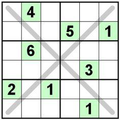 diagonal sudoku mini sudoku series 17 printable. Black Bedroom Furniture Sets. Home Design Ideas