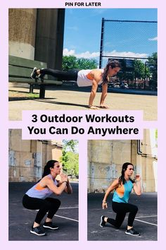 The Best Outdoor Workouts For People Who Usually Stick To The Gym - The Best Outdoor Workouts For People Who Usually Stick To The Gym 3 Best Outdoor Workout Circuits – Outdoor Exercise Ideas Fitness Tips For Women, Health And Fitness Tips, Fitness Hacks, Women's Fitness, Physical Fitness, Outdoor Workouts, Easy Workouts, Cardio Workouts, Fitness En Plein Air