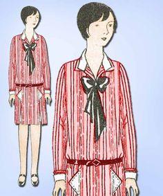 1920s Vintage Butterick Sewing Pattern 1310 Uncut Girls Flapper Dress Size 12 #Butterick #1920sFlapperDress