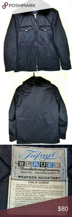 678116ef95a5e Tufnyl Blauer Weather Resistant Police Jacket 36R This weather resistant  Navy Blue Jacket from Blauer