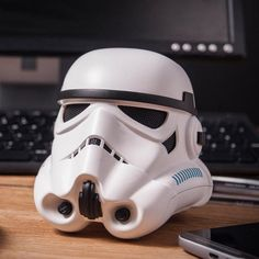 "Listen to the Imperial March from ""Star Wars"" the way it was meant to be heard -- through a Stormtrooper helmet Bluetooth speaker."