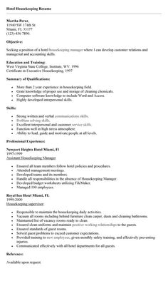 good professional housekeeping resume example you need to become a professional ones to get this certain