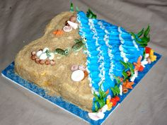 Sea Turtle and Coral Reef Cake by  Sugar Jewels Cakes & Confections