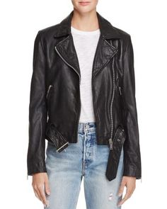 cupcakes and cashmere Dalrie Leather Moto Jacket | Bloomingdales's