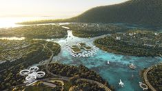 BIG, Hijjas and Ramboll selected as winners of the Penang South Islands Design Competition George Town, Proof Of Concept, Zaha Hadid, Plan Maestro, Masterplan, Penang Island, Sustainable City, Sustainable Design, Sustainable Living
