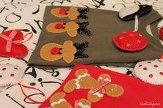 magliette con applicazioni in feltro: renne e omini pan di zenzero_tocchidigrace