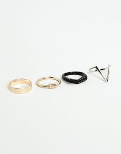 :4 PACK SELECTION OF RINGS