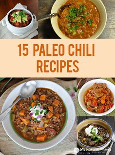 Click here to see recipes 1-12 13. Glorified Primal Chili Recipe Coffee 14. Pumpkin Sloppy Joes Recipe Sweet Potatoes 15. Paleo Veggie Beef Chili Recipe Sweet Potato 16. Slow Cooker Jalapeno Chili Recipe Jalapeños 17. Paleo Beanless Beef Chilli Recipe Beef Mince 18. Chorizo Sweet Potato Chili Recipe Sausage 19. My Favorite Paleo Chili Recipe Carrots 20. White Chicken ChiliContinue