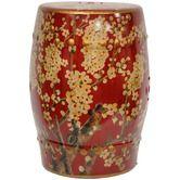 Found it at Wayfair - Sakura Blossom Oriental Garden Stool in Dark Red