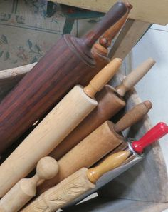 vintage rolling pin collection