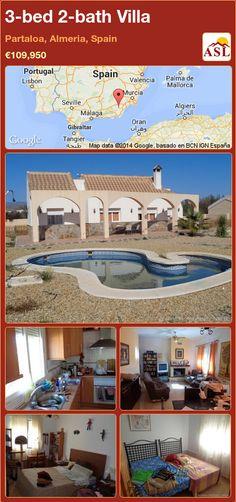 3-bed 2-bath Villa in Partaloa, Almeria, Spain ►€109,950 #PropertyForSaleInSpain
