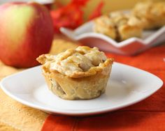 MINI APPLE PIES. I just used frozen pie crust, still really good!