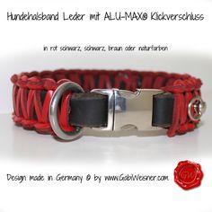 Hundehalsband Leder Klickverschluss
