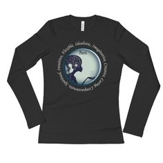 Pisces Girl- Ladies' Long Sleeve T-Shirt