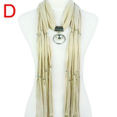 Beads dotted women jewelry scarf raw edge tassels long style NL-1620D