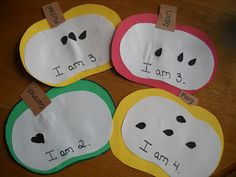 A is for Apple craft - with counting