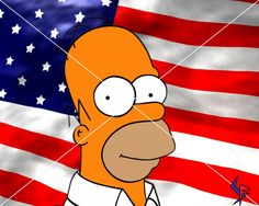 photos of american flag with indian on it | Homer Simpson American Flag 1152 x 768