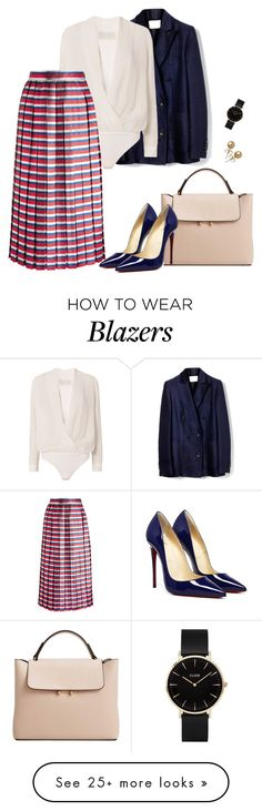 """Work"" by olhandoporai on Polyvore featuring Michelle Mason, Gucci, MANGO, Bling Jewelry and CLUSE"