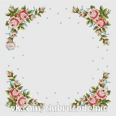 Cross Stitch Art, Cross Stitch Borders, Cross Stitch Flowers, Counted Cross Stitch Patterns, Cross Stitching, Border Design, Vintage Labels, Needlepoint, Diy And Crafts