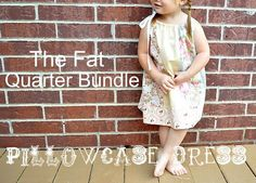 Tutorial – Pillowcase Dress Using Fat Quarters | The Mother Huddle - I love the idea of using different fabrics (as in all the scraps in my stash) to make a pillowcase dress.  Great for Little Dresses for Africa.