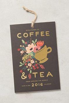 Floral  (Rifle Paper Co. Coffee & Tea 2016 Calendar #anthrofave)
