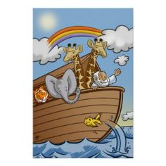 Noah's Ark - Christian Posters For Kids http://www.christianityposters.com/