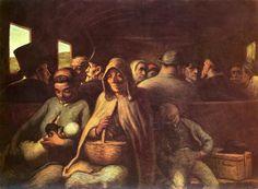 "Honorè Daumier, ""Vagone di terza classe"",1862, olio su tela. Ottawa, National Gallery of Canada"