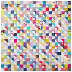 Drunkard's Path Variation Quilt | Red Pepper Quilts