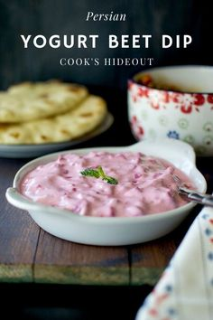 Colorful, creamy and delicious Persian yogurt beet dip is a simple and easy to make recipe. Great to serve as a dressing or with warm flatbread and curry. Best Appetizer Recipes, Fruit Recipes, Dip Recipes, Cooking Recipes, Easy Recipes, Healthy Recipes, Hot Desserts, Food Stamps, Easy Food To Make