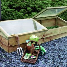 Zest 4 Leisure Large Wooden Cold Frame Growhouse Greenhouse Garden Plant for sale online