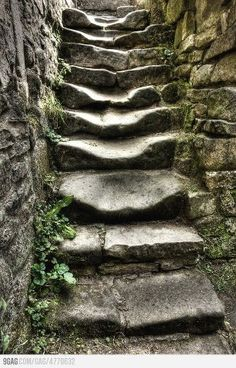 Worn stone