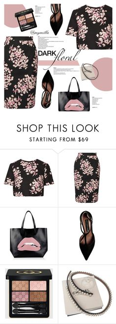 """Dark Floral"" by mymilla ❤ liked on Polyvore featuring Jonathan Saunders, RED Valentino, Steve Madden, Gucci and Chanel"