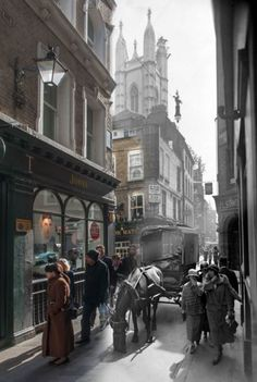 The Time Out London: 12 eerie images of London then and now: Bow-Lane © Museum of London.
