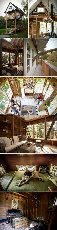 Amazing adult treehouse in Elkhorn, Washington.