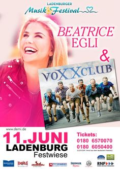 LADENBURGER MUSIK FESTIVAL BEATRICE EGLI & voXXclub