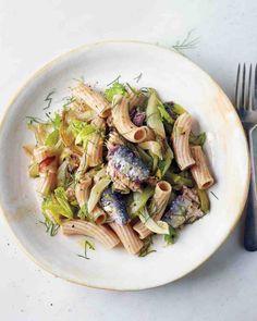 Caramelized Fennel, Celery, and Sardine Pasta