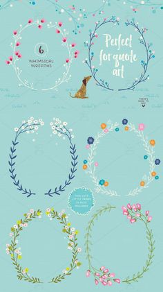 Create beautiful wall art and quote art with this whimsical winter set. #wreath #christmas #clipart #whimsical #magical